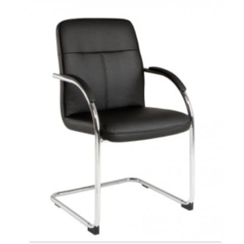 Eva Cantilever chair - Black PU
