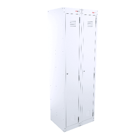 Single Door Bank of 2 - White