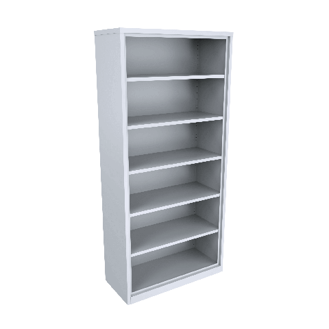 High Bookcase Steel 5 adjustable shelves