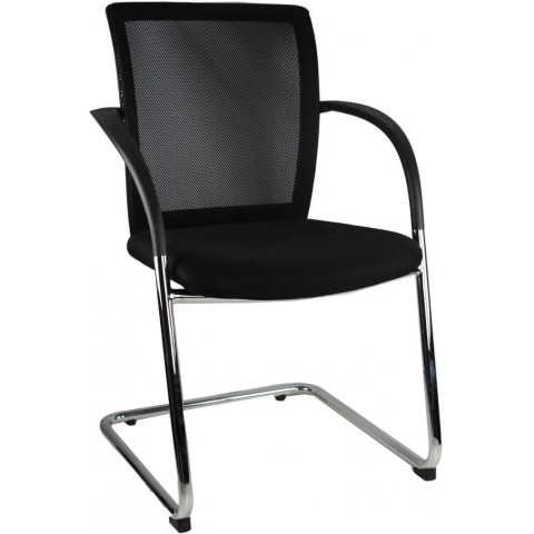 Visitor Chair with Arms Mesh Back Brisbane Gold Coast