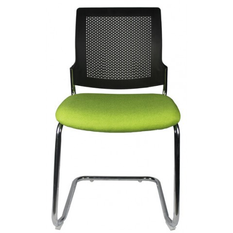 Modern Visitor chair black back green seat Brisbane Gold Coast