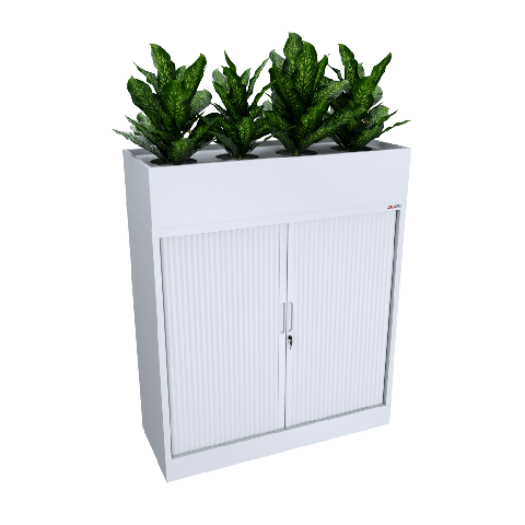 White Planter and Tambour 1200W