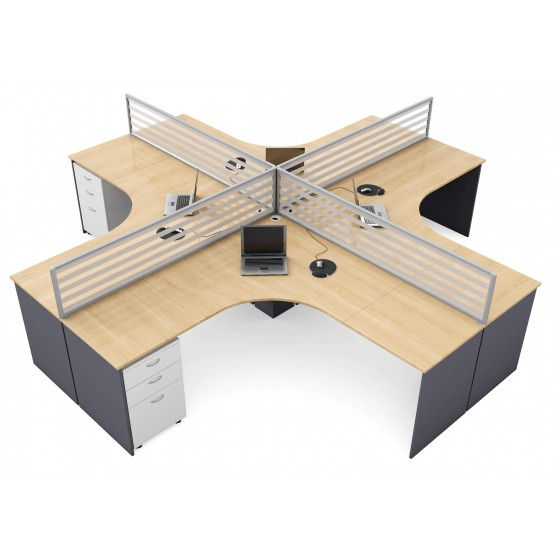 Logic Desk Mount Glass Screens