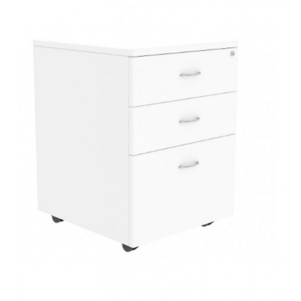 Mobile Pedestal White Lockable