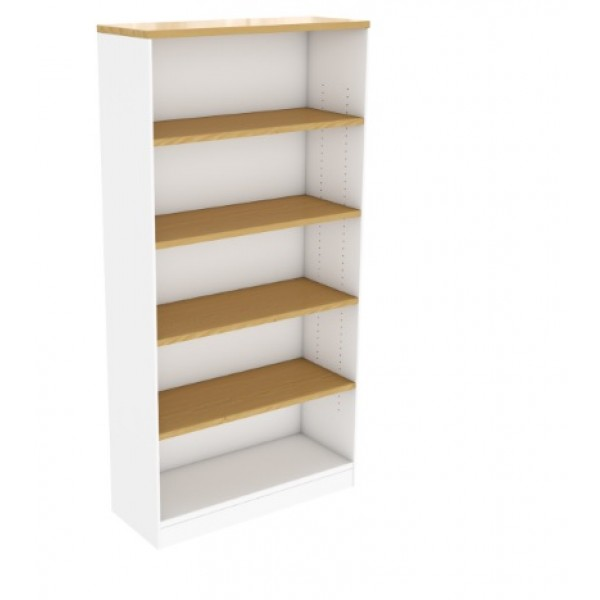 Beech White Bookcase