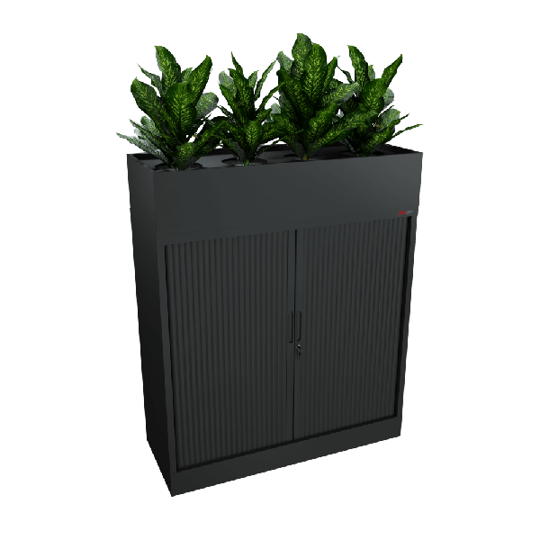 Black Tambour and planter 1200W