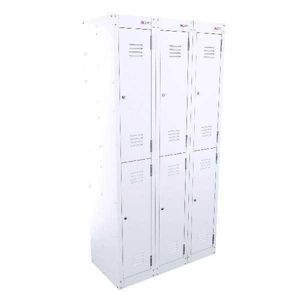 2 Door Bank of 2 - White