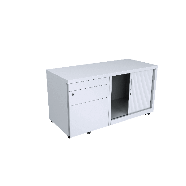 Desk Caddy LHS White Logic Interiors