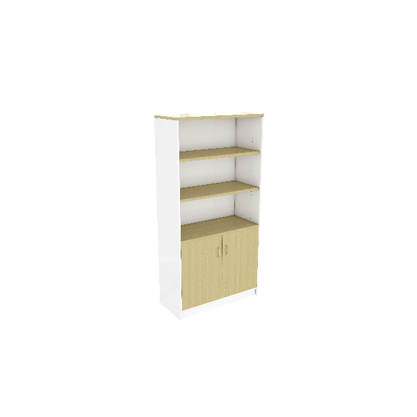Commercial White and Maple Half Door Unit
