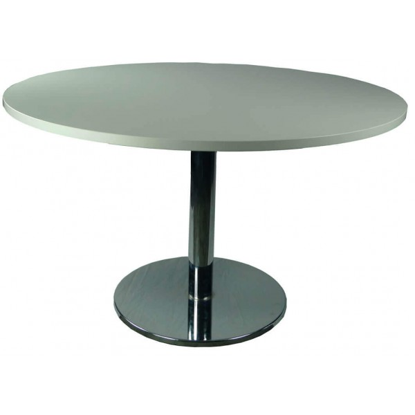 Round Meeting Table Stainless Steel Base