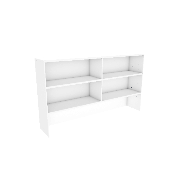 White Allover Hutch Adjustable Shelves