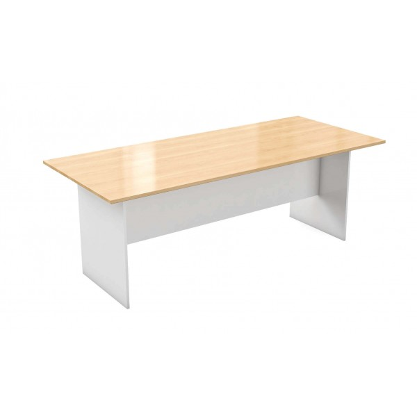 Commercial Table Maple Top White Base