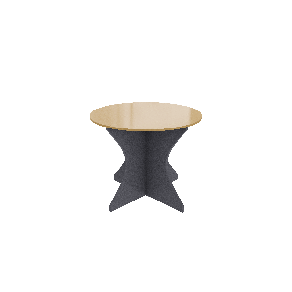 Beech Ironstone Round Commercial office meeting table
