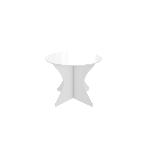 White allover Commercial round meeting Table