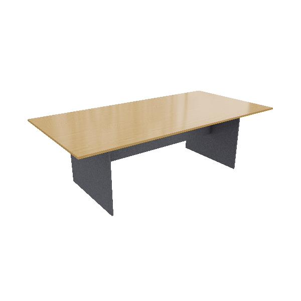 Beech Ironstone Rectangular Table Logic Interiors