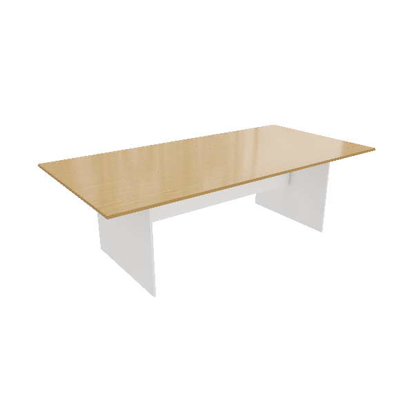 Beech White Meeting Table Strong Solid