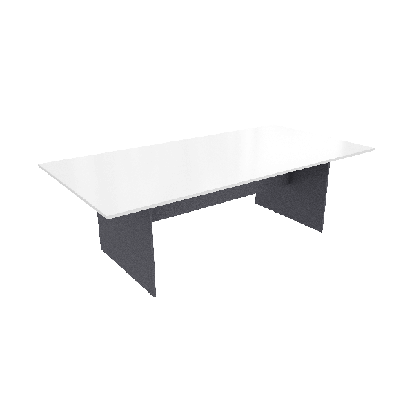 Rectangular Large Meeting table White Ironstone