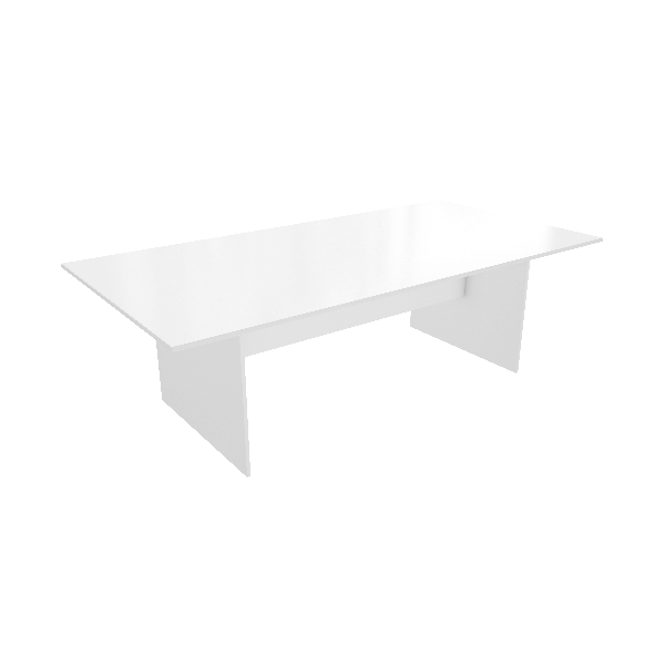 White all over Table Modern look Logic Range
