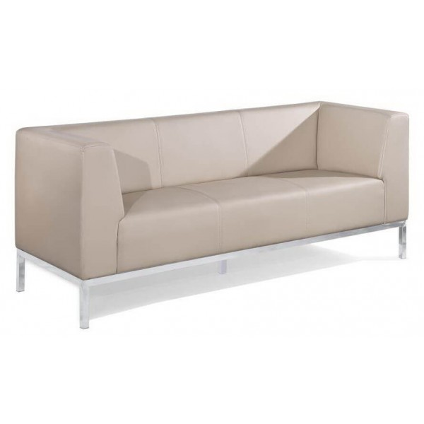 large Reception lounge Taupe Chrome Frame