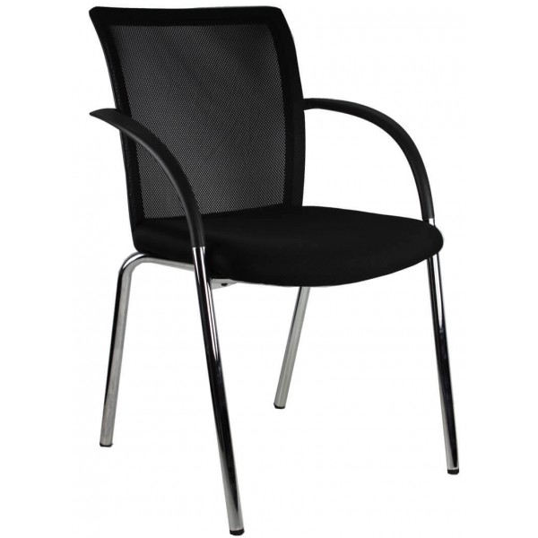Best Selling Visitors Chair 4 leg chrome Brisbane Gold Coast Logic Interiors