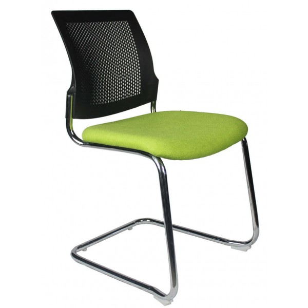 Cantilever Visitor chair Green Seat