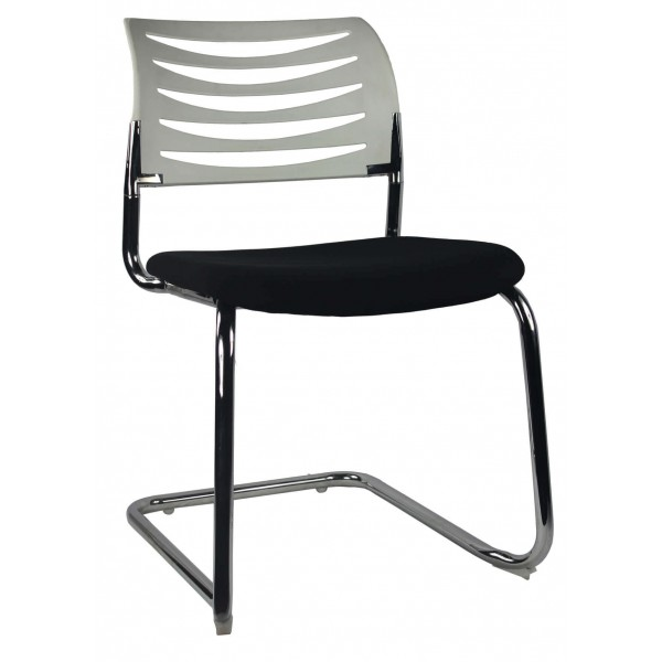 White Back Black Seat Cantilever Visitor chair