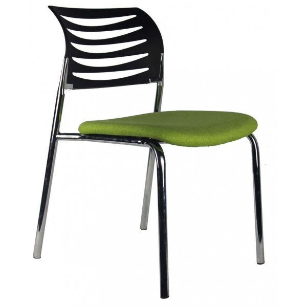 Modern visitor chair Brisbane Gold Coast Black Back Green seat