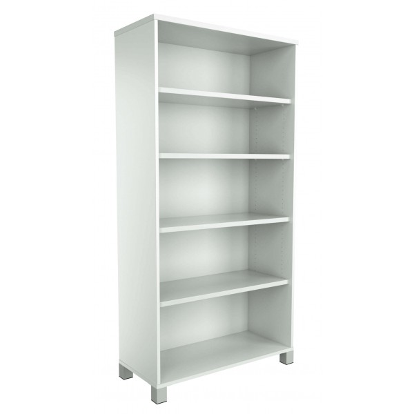 Strata Bookcase White Allover Latest Design Logic Interiors