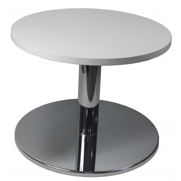 Round Coffee Table Office White Chrome